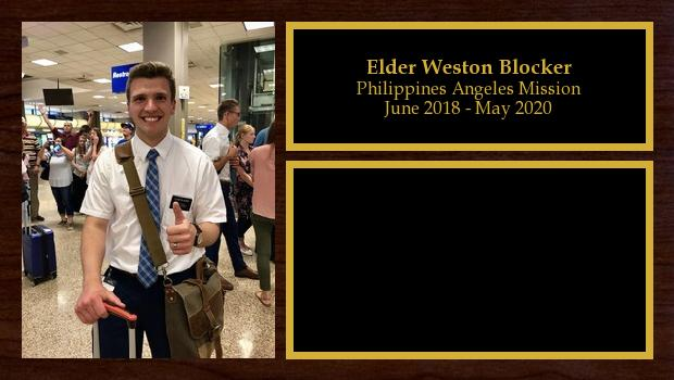 June 2018 to May 2020<br/>Elder Weston Blocker