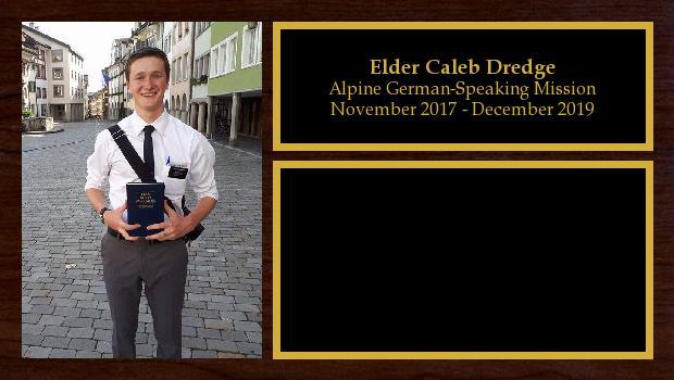 November 2017 to December 2019<br/>Elder Caleb Dredge