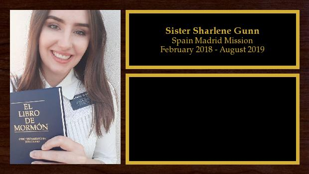 February 2018 to August 2019<br/>Sister Sharlene Gunn