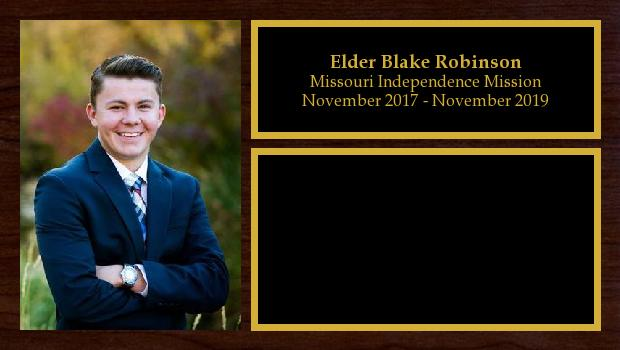 November 2017 to November 2019<br/>Elder Blake Robinson