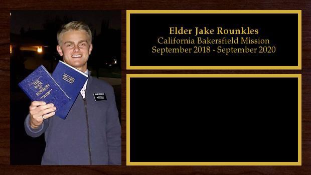 September 2018 to September 2020<br/>Elder Jake Rounkles