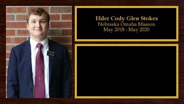 May 2018 to May 2020<br/>Elder Cody Glen Stokes