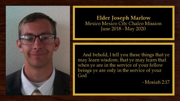 June 2018 to May 2020<br/>Elder Joseph Marlow