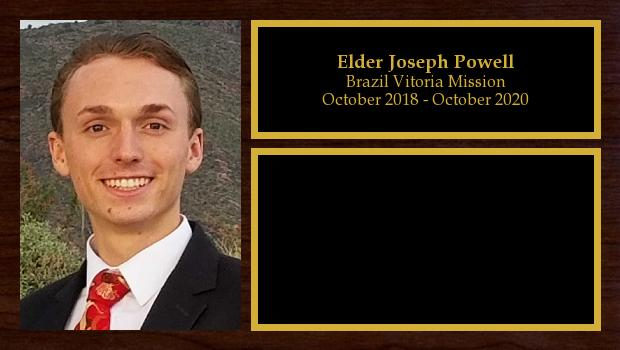October 2018 to October 2020<br/>Elder Joseph Powell