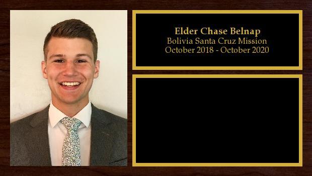 October 2018 to October 2020<br/>Elder Chase Belnap