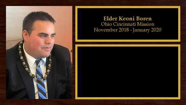 November 2018 to November 2020<br/>Elder Keoni Boren