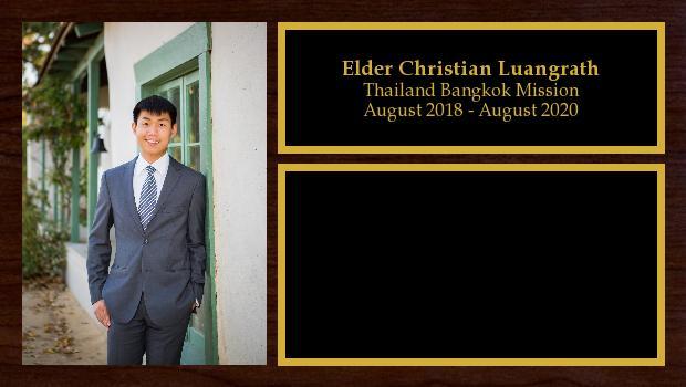 August 2018 to August 2020<br/>Elder Christian Luangrath