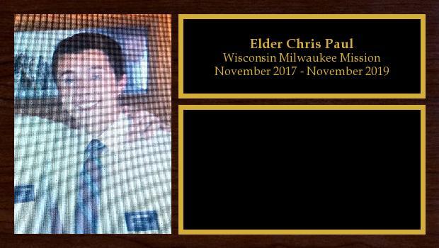 November 2017 to November 2019<br/>Elder Chris Paul
