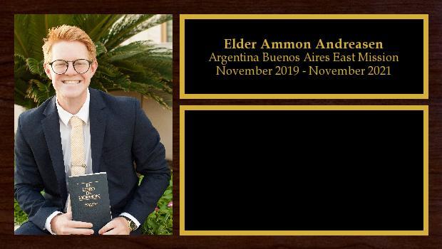 November 2019 to November 2021<br/>Elder Ammon Andreasen