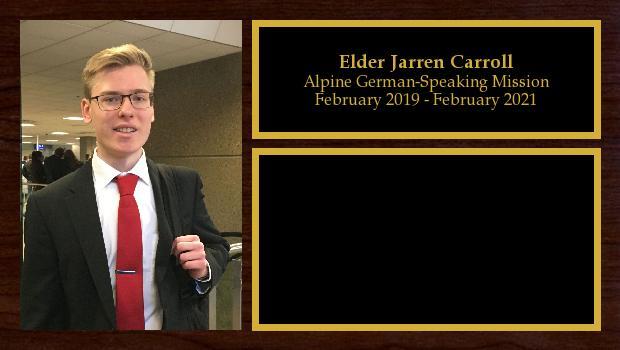 February 2019 to February 2021<br/>Elder Jarren Carroll