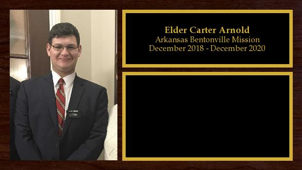 December 2018 to November 2020<br/>Elder Carter Arnold