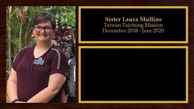 December 2018 to June 2020<br/>Sister Laura Mullins