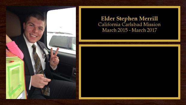 March 2015 to March 2017<br/>Elder Stephen Merrill