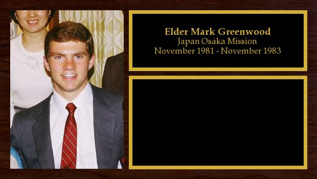 November 1981 to November 1983<br/>Elder Mark Greenwood