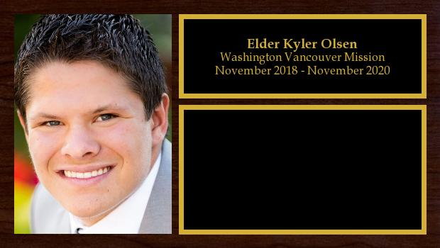 November 2018 to November 2020<br/>Elder Kyler Olsen