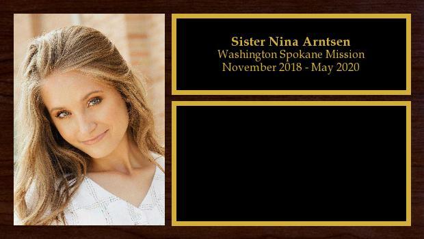 November 2018 to May 2020<br/>Sister Nina Arntsen