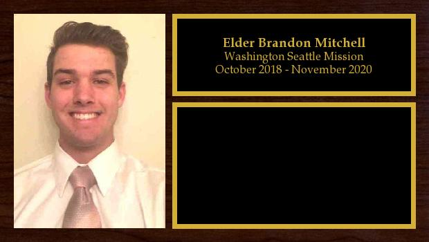 October 2018 to November 2020<br/>Elder Brandon Mitchell