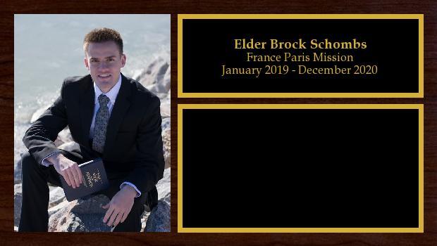 January 2019 to January 2021<br/>Elder Brock Schombs