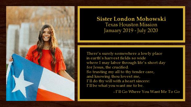 January 2019 to July 2020<br/>Sister London Mohowski