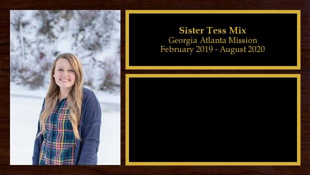 February 2019 to August 2020<br/>Sister Tess Mix