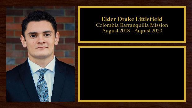 August 2018 to August 2020<br/>Elder Drake Littlefield
