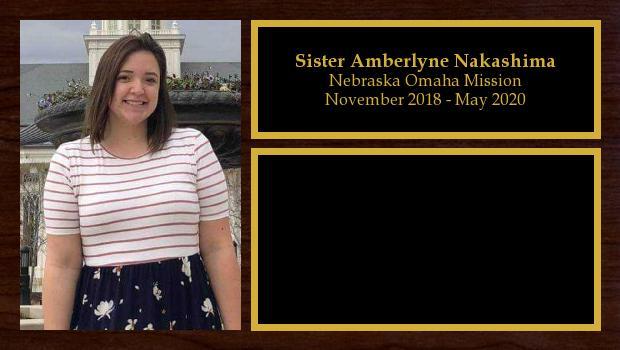 November 2018 to May 2020<br/>Sister Amberlyne Nakashima