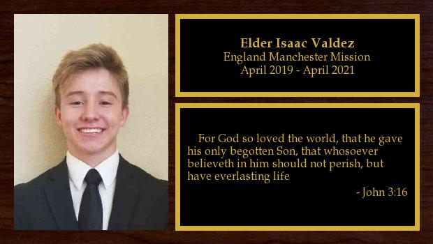 April 2019 to April 2021<br/>Elder Isaac Valdez