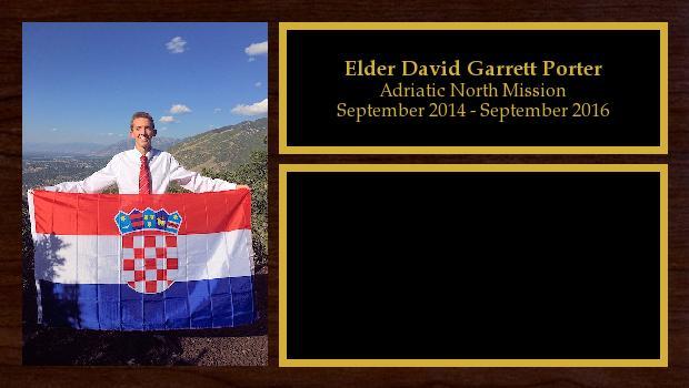 September 2014 to September 2016<br/>Elder David Garrett Porter