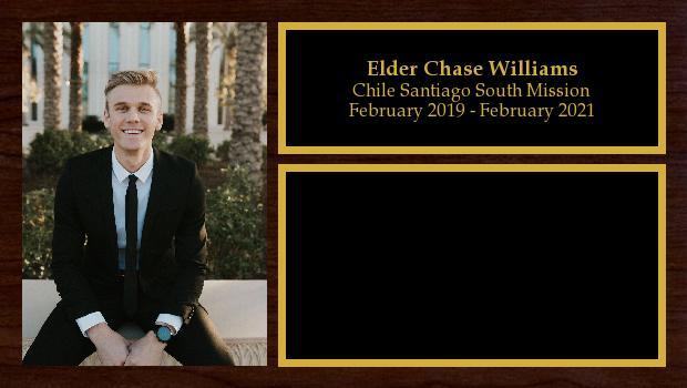 February 2019 to February 2021<br/>Elder Chase Williams