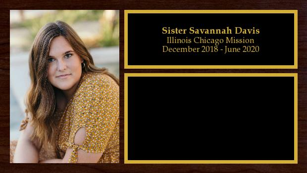 December 2018 to June 2020<br/>Sister Savannah Davis
