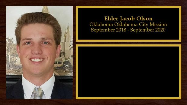 September 2018 to September 2020<br/>Elder Jacob Olson