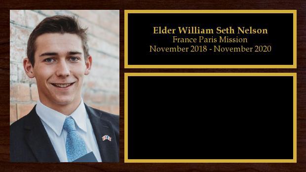 November 2018 to March 2020<br/>Elder William Seth Nelson