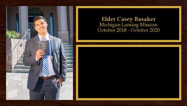 October 2018 to October 2020<br/>Elder Casey Basaker