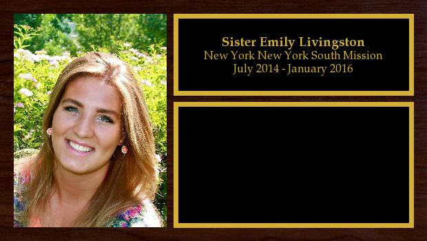 July 2014 to January 2016<br/>Sister Emily Livingston