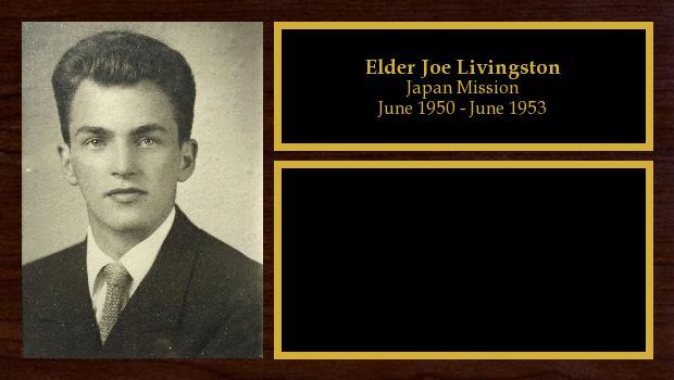 June 1950 to June 1953<br/>Elder Joe Livingston