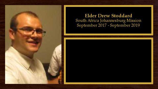 September 2017 to September 2019<br/>Elder Drew Stoddard