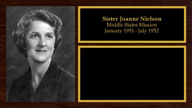 January 1951 to July 1952<br/>Sister Joanne Nielson