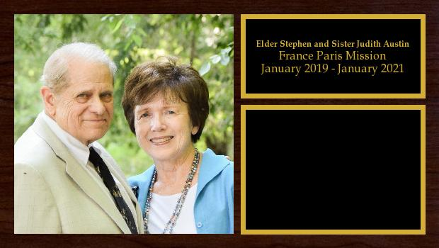 January 2019 to July 2020<br/>Elder Stephen and Sister Judith Austin