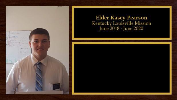 June 2018 to June 2020<br/>Elder Kasey Pearson