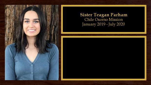January 2019 to July 2020<br/>Sister Teagan Parham