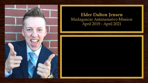 April 2019 to April 2021<br/>Elder Dalton Jensen