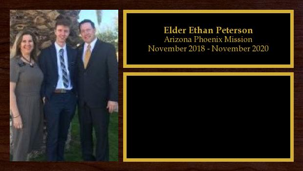 November 2018 to November 2020<br/>Elder Ethan Peterson