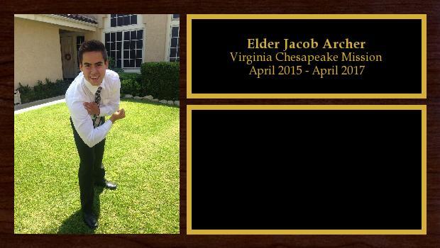 April 2015 to April 2017<br/>Elder Jacob Archer