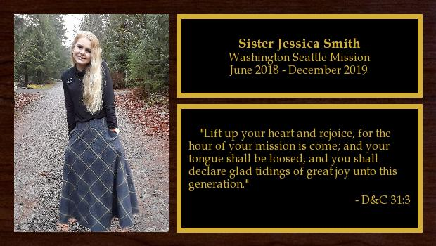 June 2018 to December 2019<br/>Sister Jessica Smith