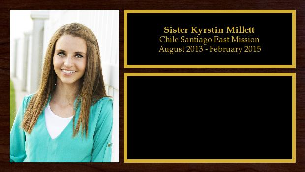 August 2013 to February 2015<br/>Sister Kyrstin Millett