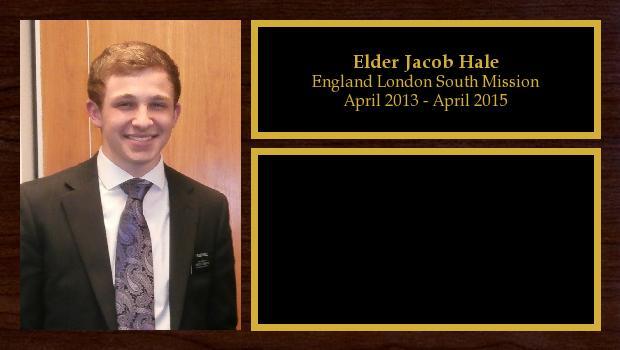 April 2013 to April 2015<br/>Elder Jacob Hale