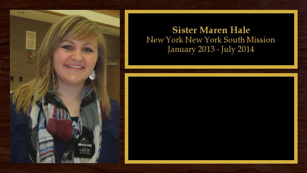 January 2013 to July 2014<br/>Sister Maren Hale
