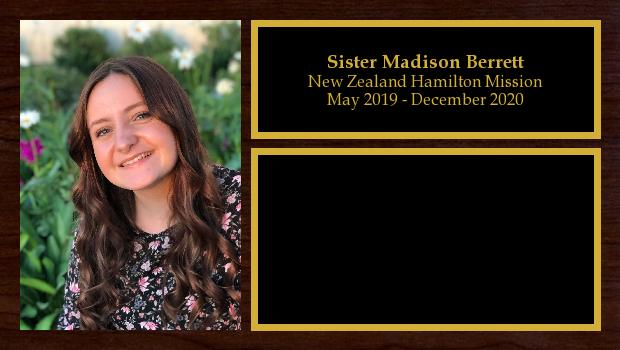May 2019 to December 2020<br/>Sister Madison Berrett
