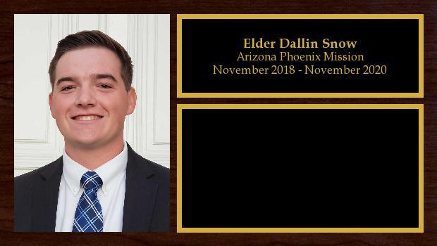 November 2018 to November 2020<br/>Elder Dallin Snow