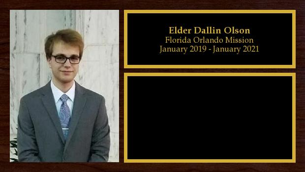 January 2019 to January 2021<br/>Elder Dallin Olson